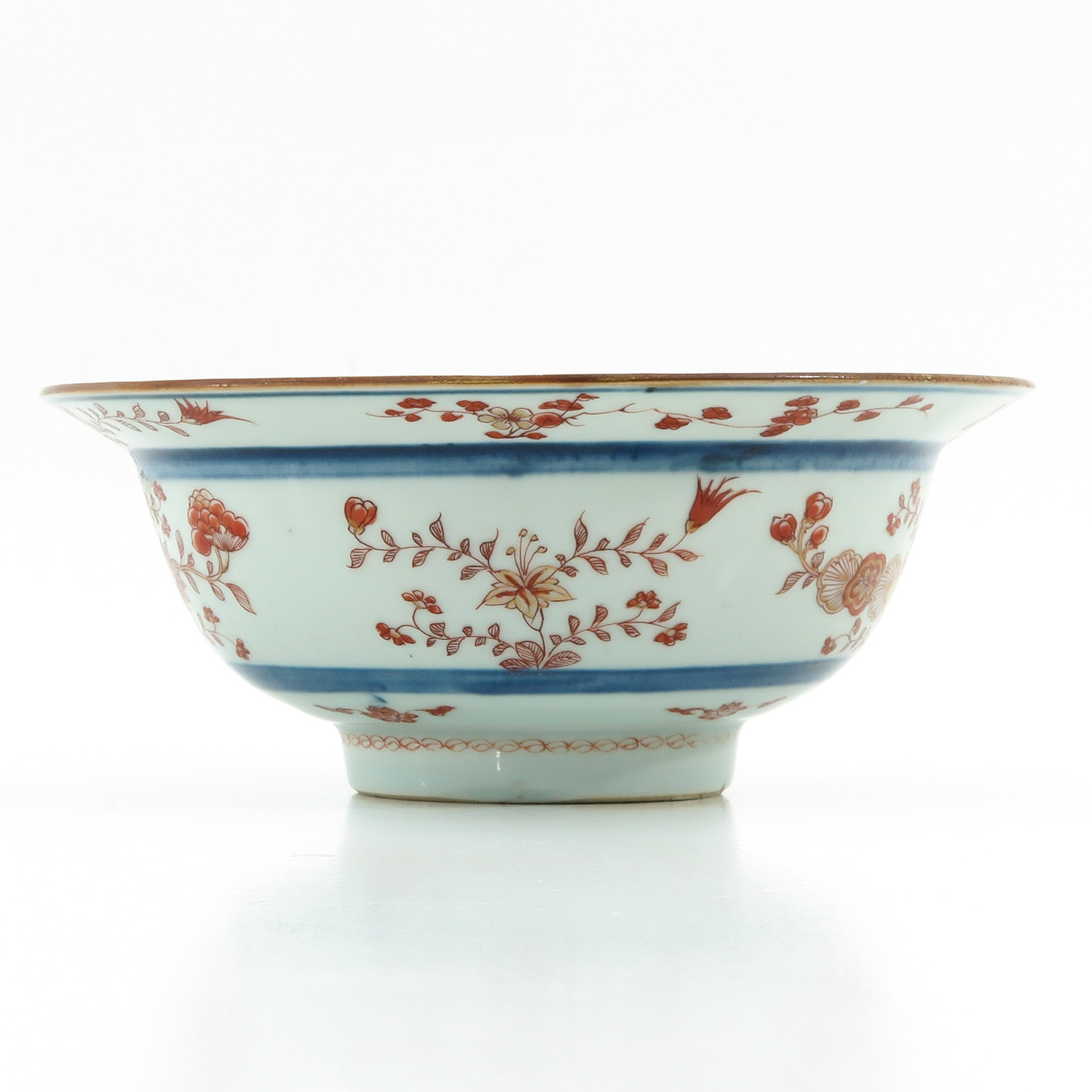 A Blue and Iron Red Bowl - Image 4 of 9