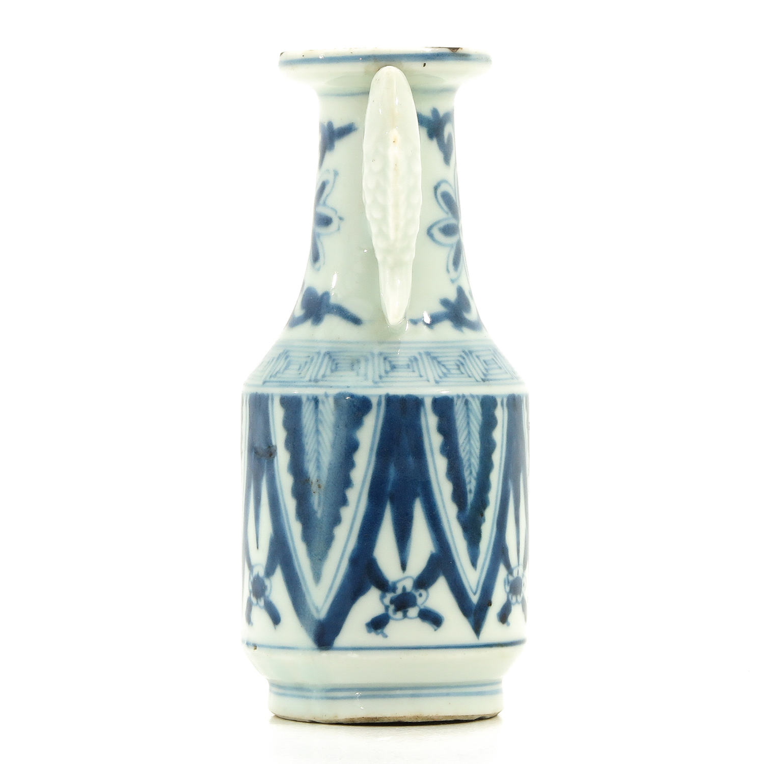 A Blue and White Twin Fish Vase - Image 2 of 9