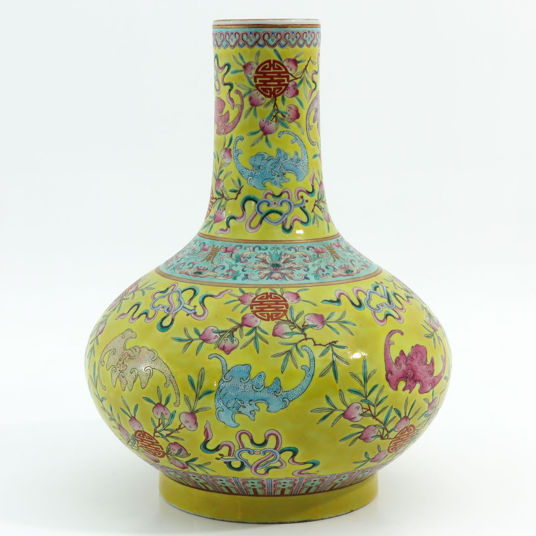 A Famille Rose Bottle Vase - Image 4 of 10