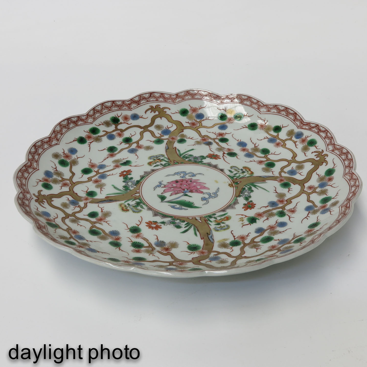 A Polychrome Decor Charger - Image 3 of 6