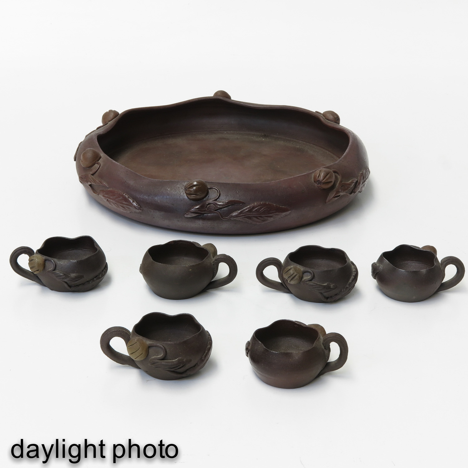 A Yixing Tray and 6 Cups - Image 7 of 10