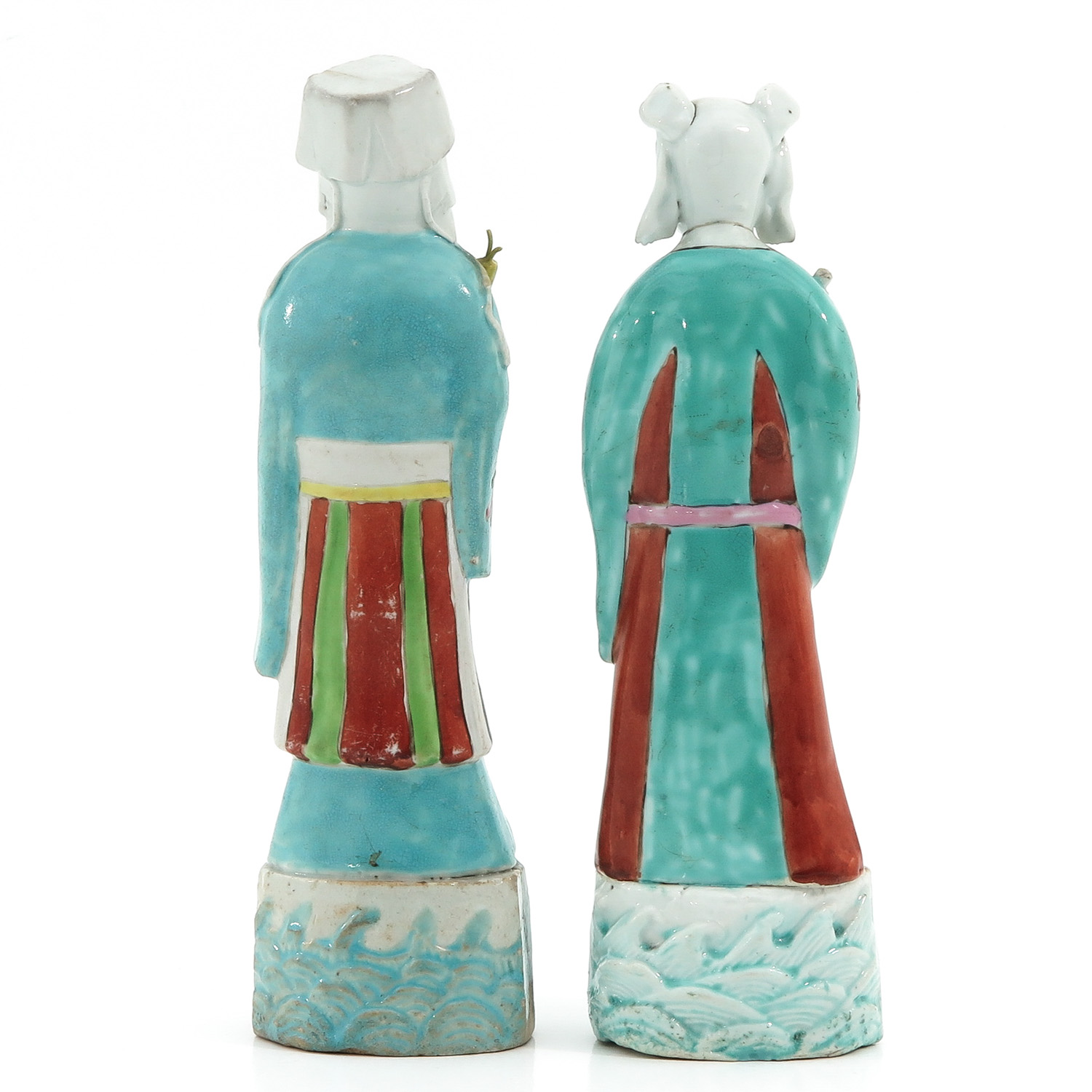 A Pair of Famille Rose Figures - Image 3 of 10