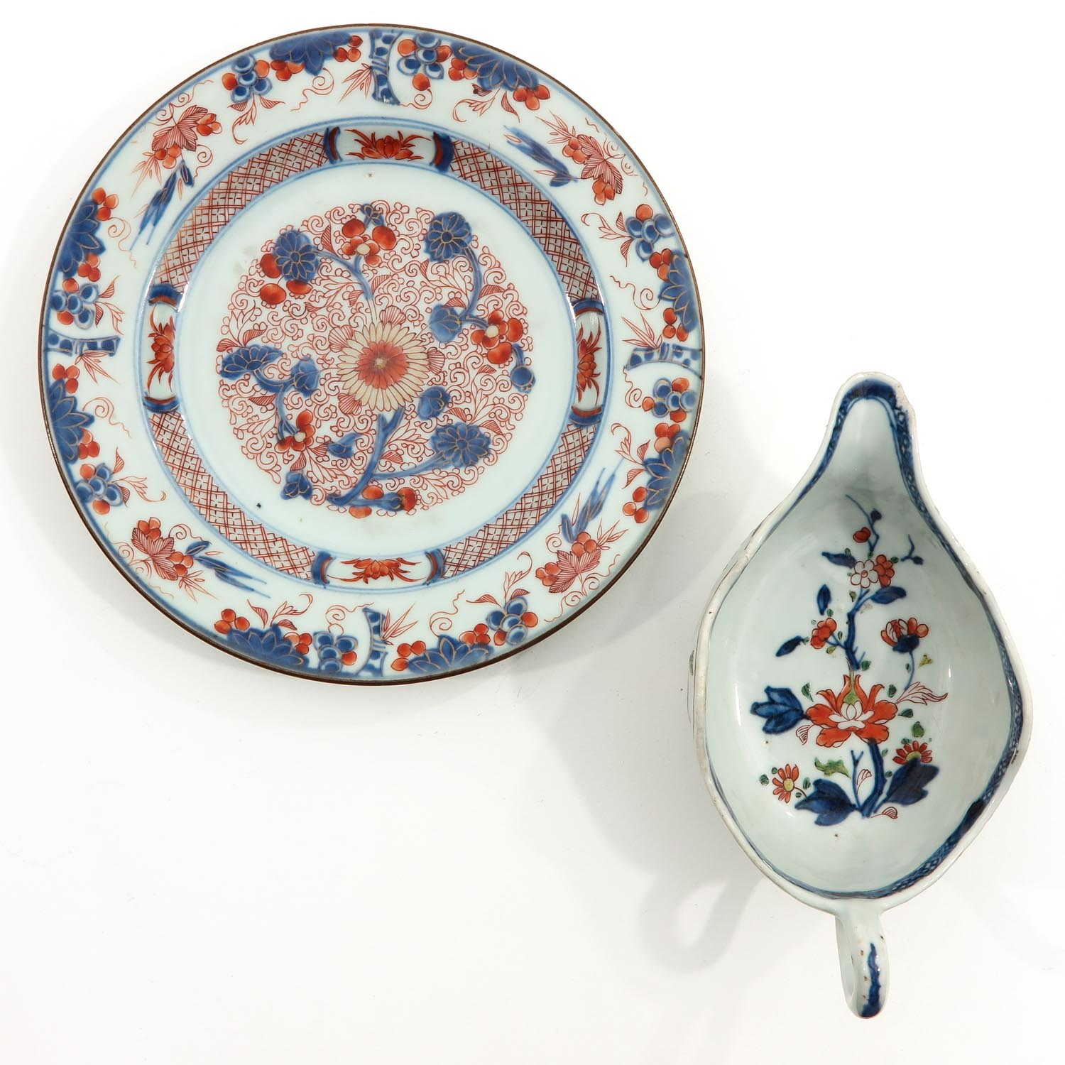 An Imari Plate and Gravy Boat - Image 5 of 10