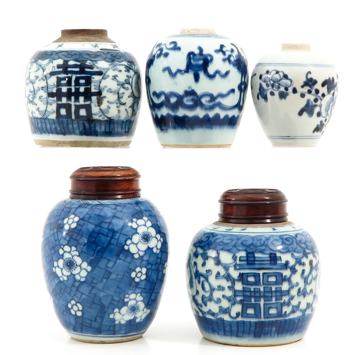 A Collection of 5 Ginger Jars - Image 4 of 10