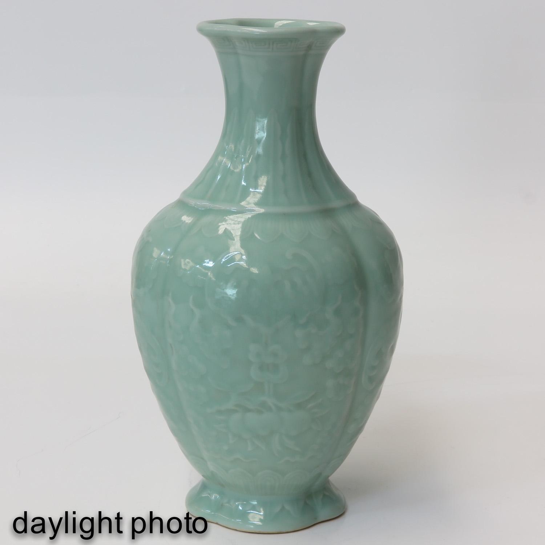 A Celadon Vase - Image 7 of 9