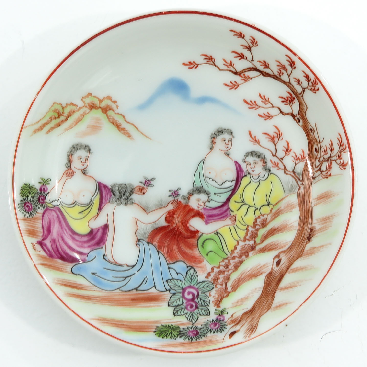 A Pair of Chine de Commande Small Plates - Image 5 of 9