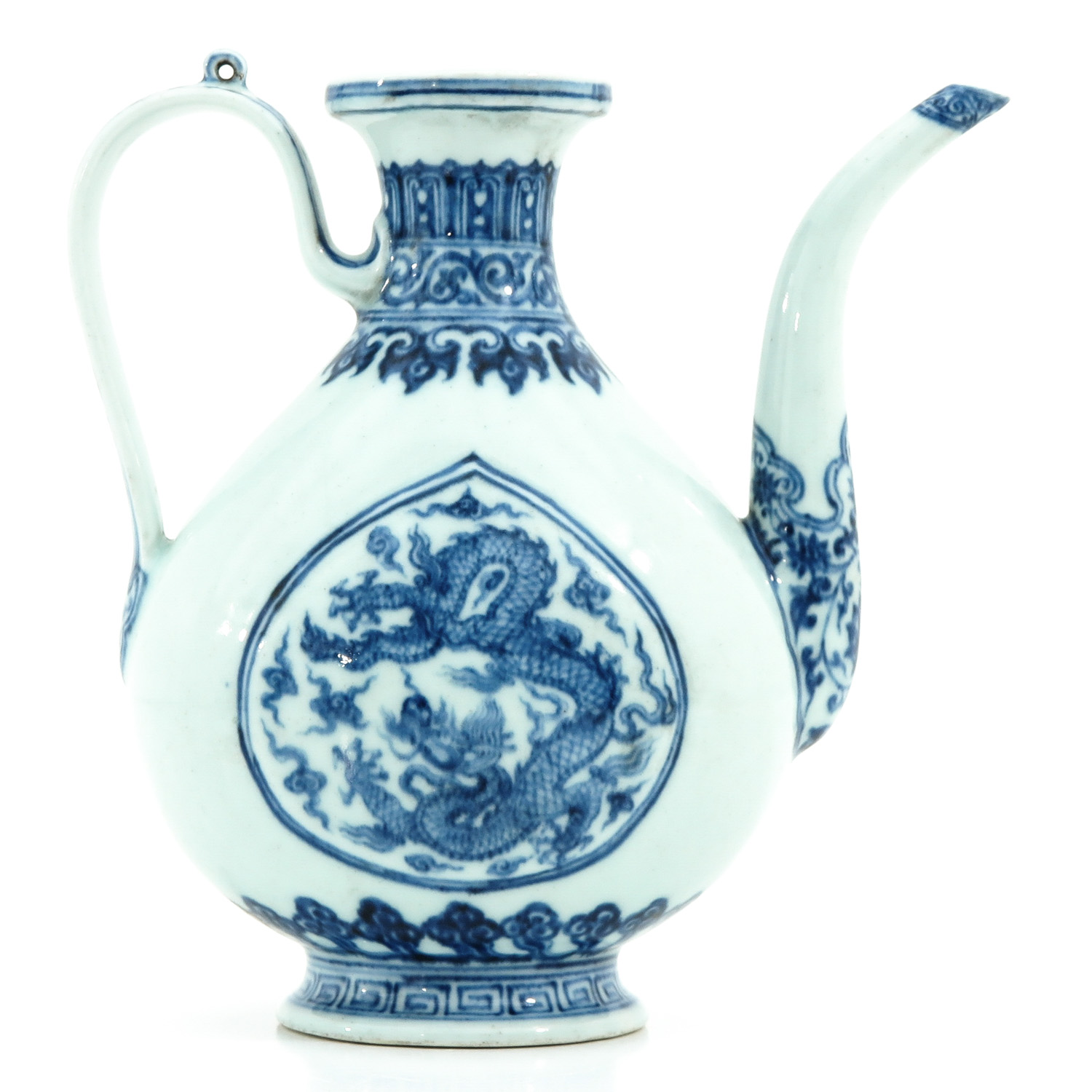 A Blue and White Kendi - Image 3 of 9