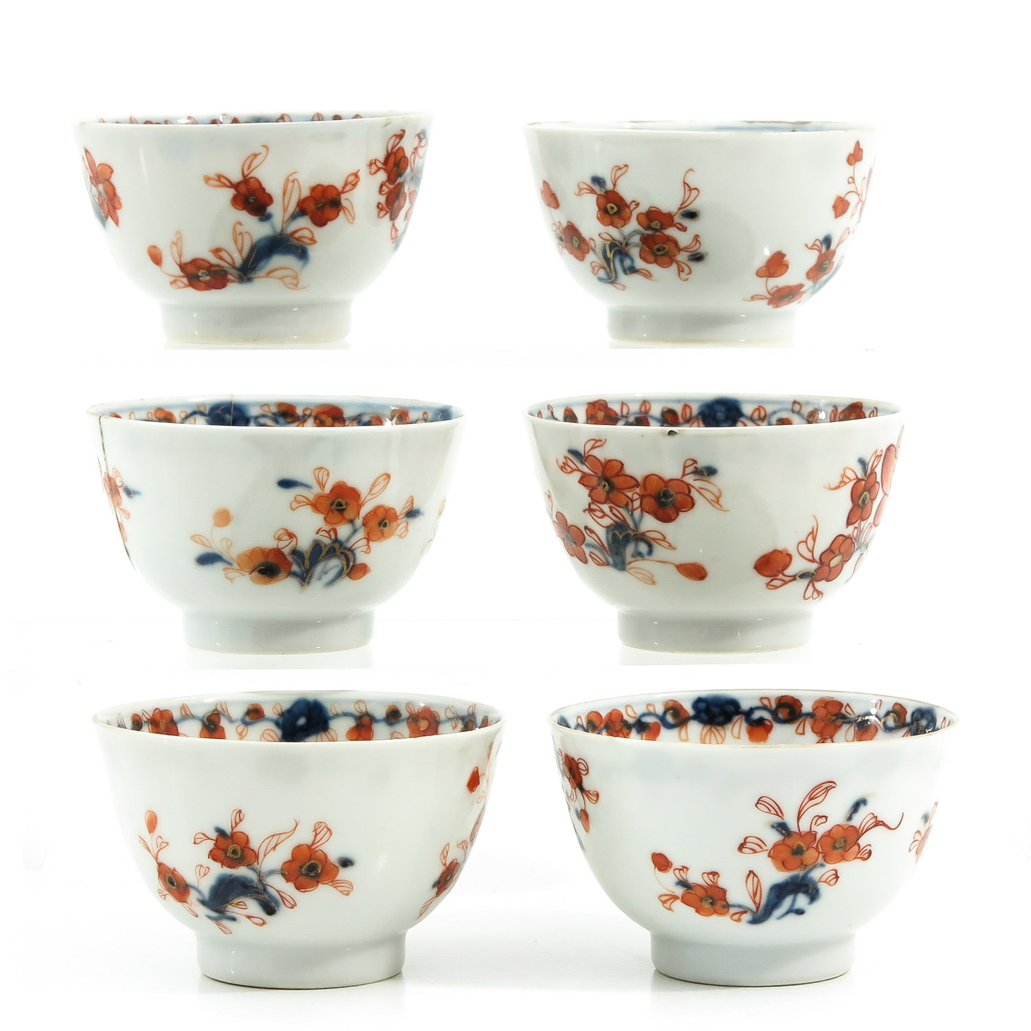 A Collection of Imari Cups and Saucers - Image 4 of 10