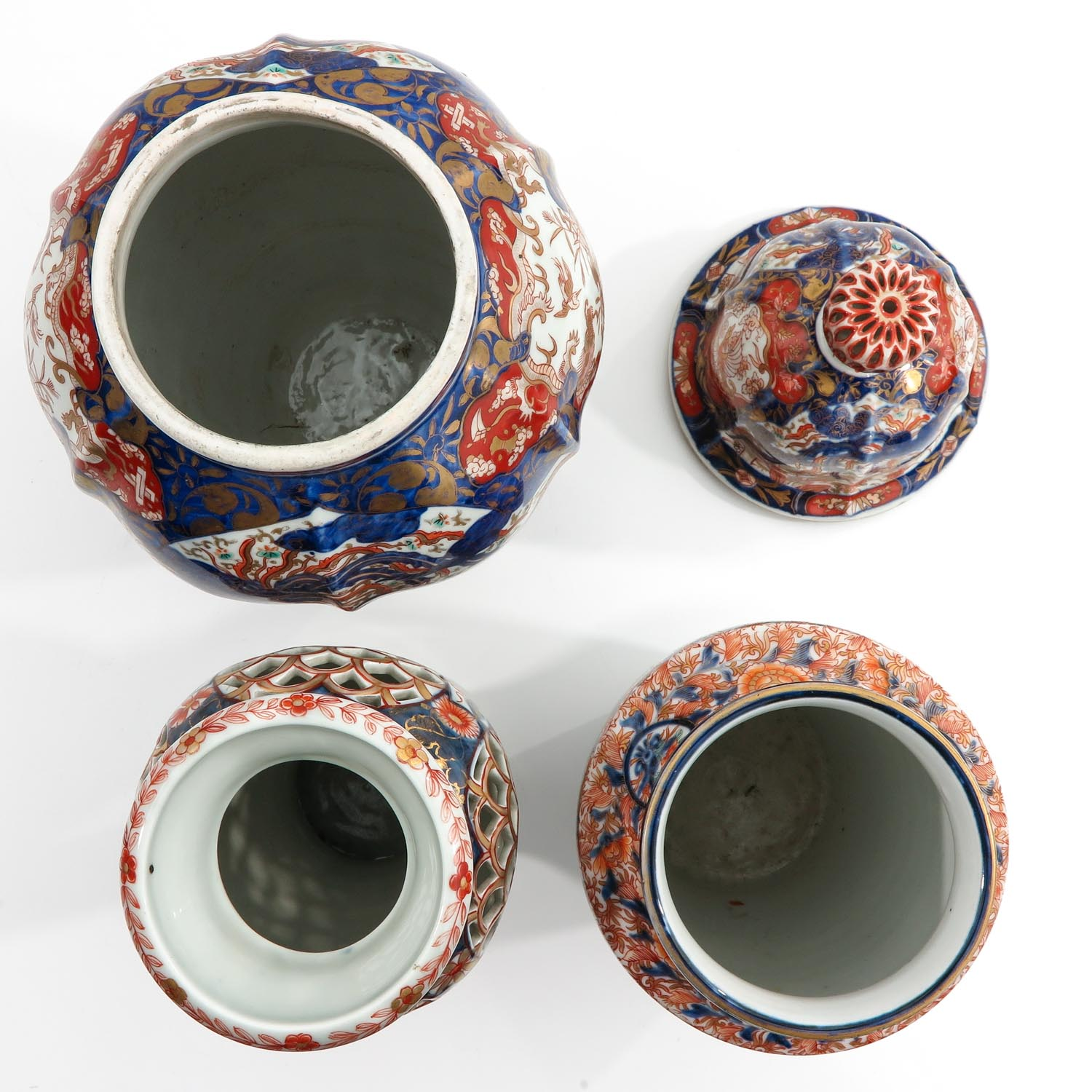 A Collection of 3 Imari Vases - Image 5 of 9