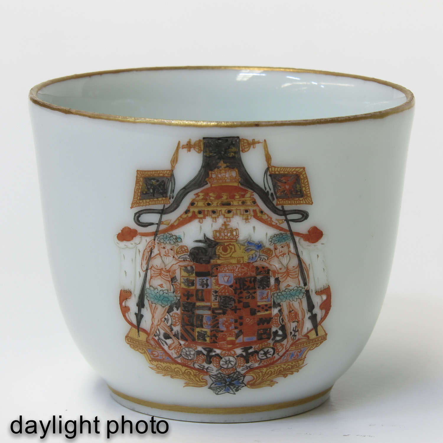 A Pair of Polychrome Decor Cups - Image 9 of 9