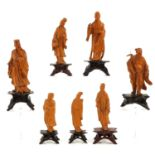 A Lot of7 Carved Sculptures
