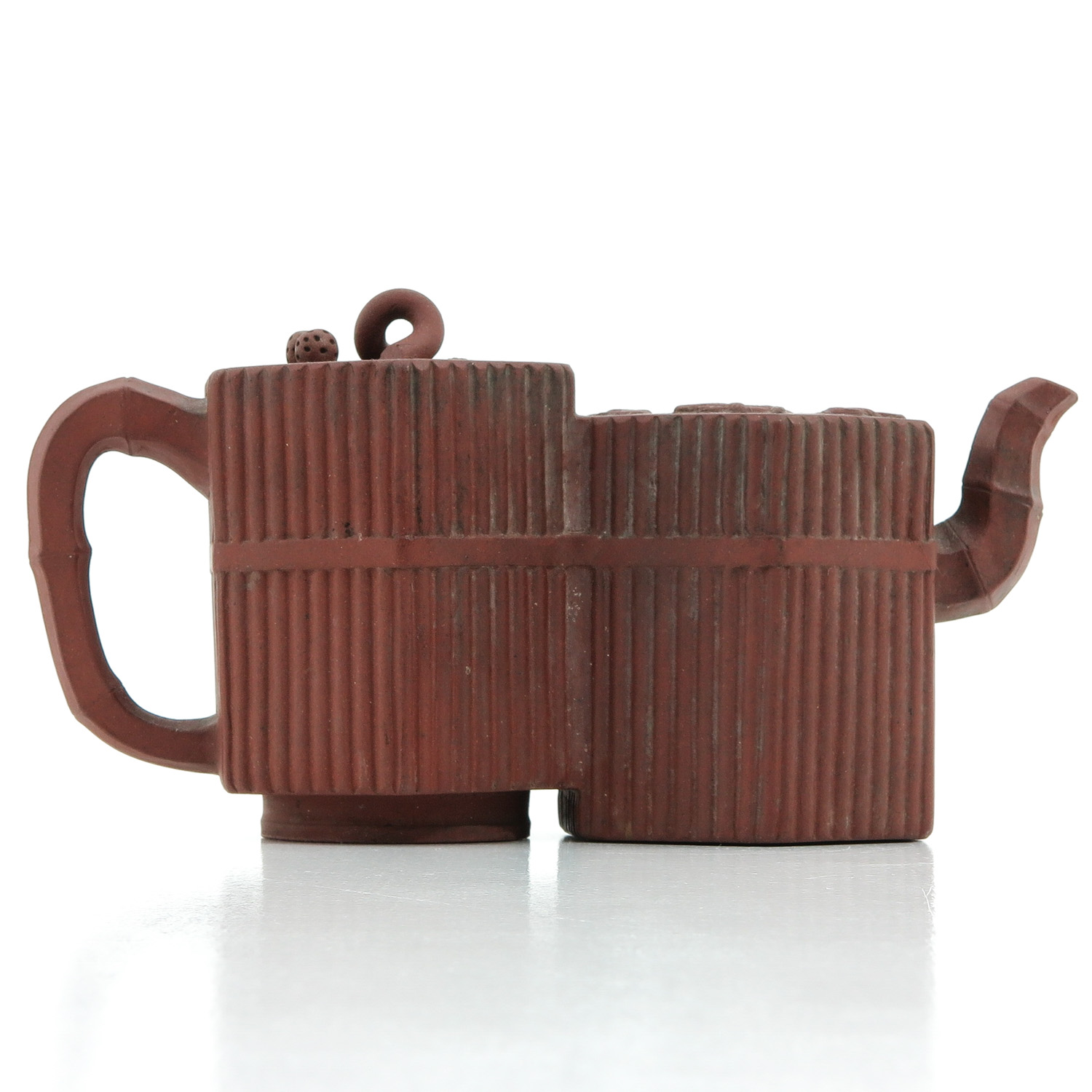 A Double Yixing Teapot - Image 3 of 9