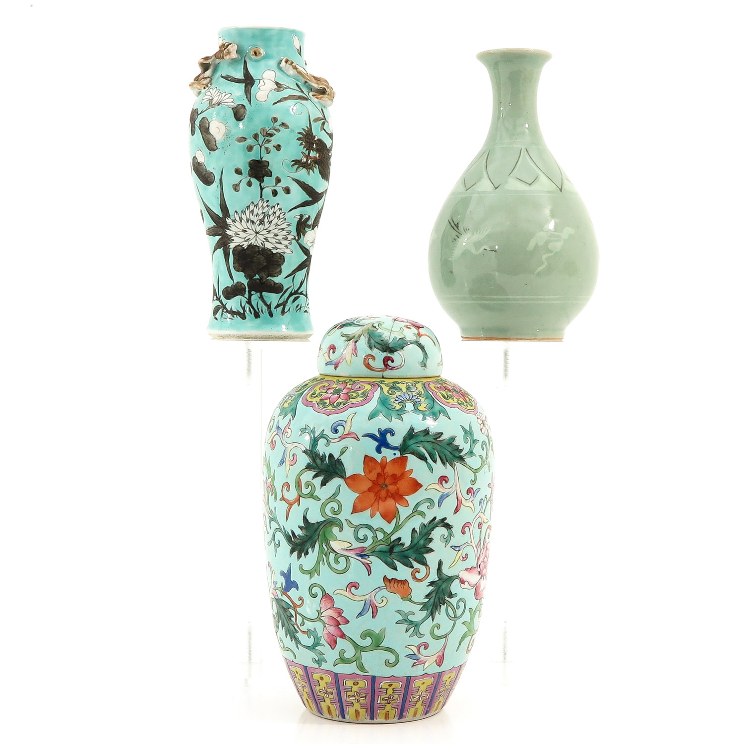 A Collection of 3 Vases - Image 4 of 9
