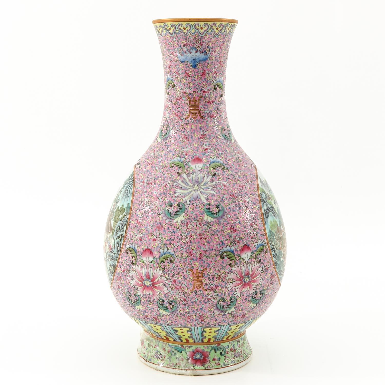 A Famille Rose Vase - Image 2 of 9