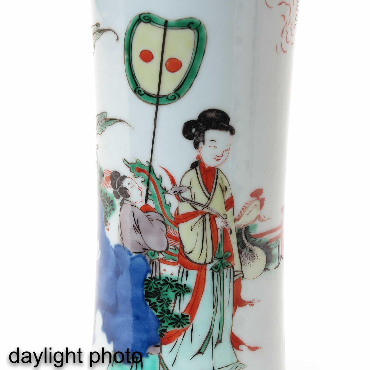 A Pair of Famile Verte Vases - Image 9 of 9
