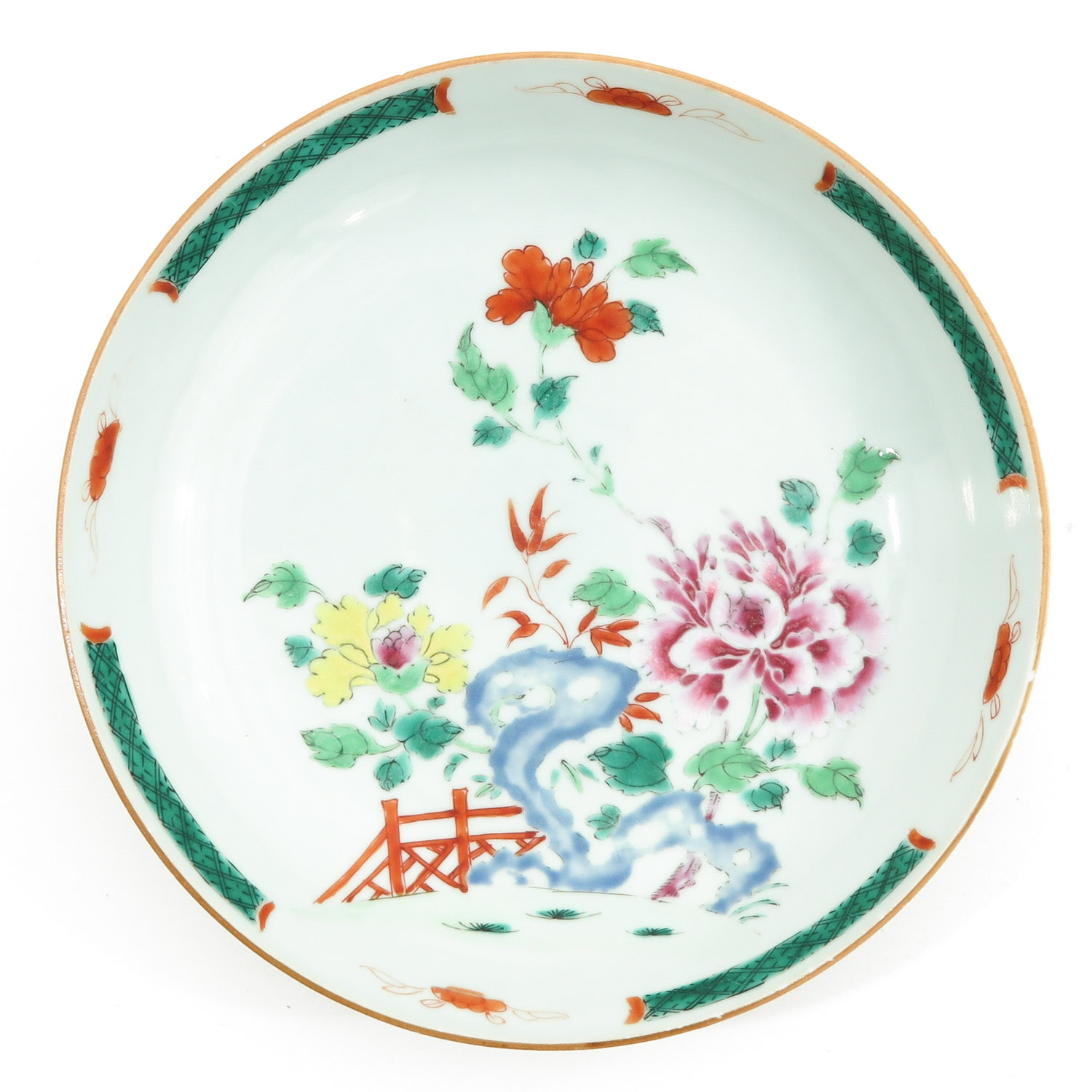 A Lot of 2 Famille Rose Plates - Image 5 of 10