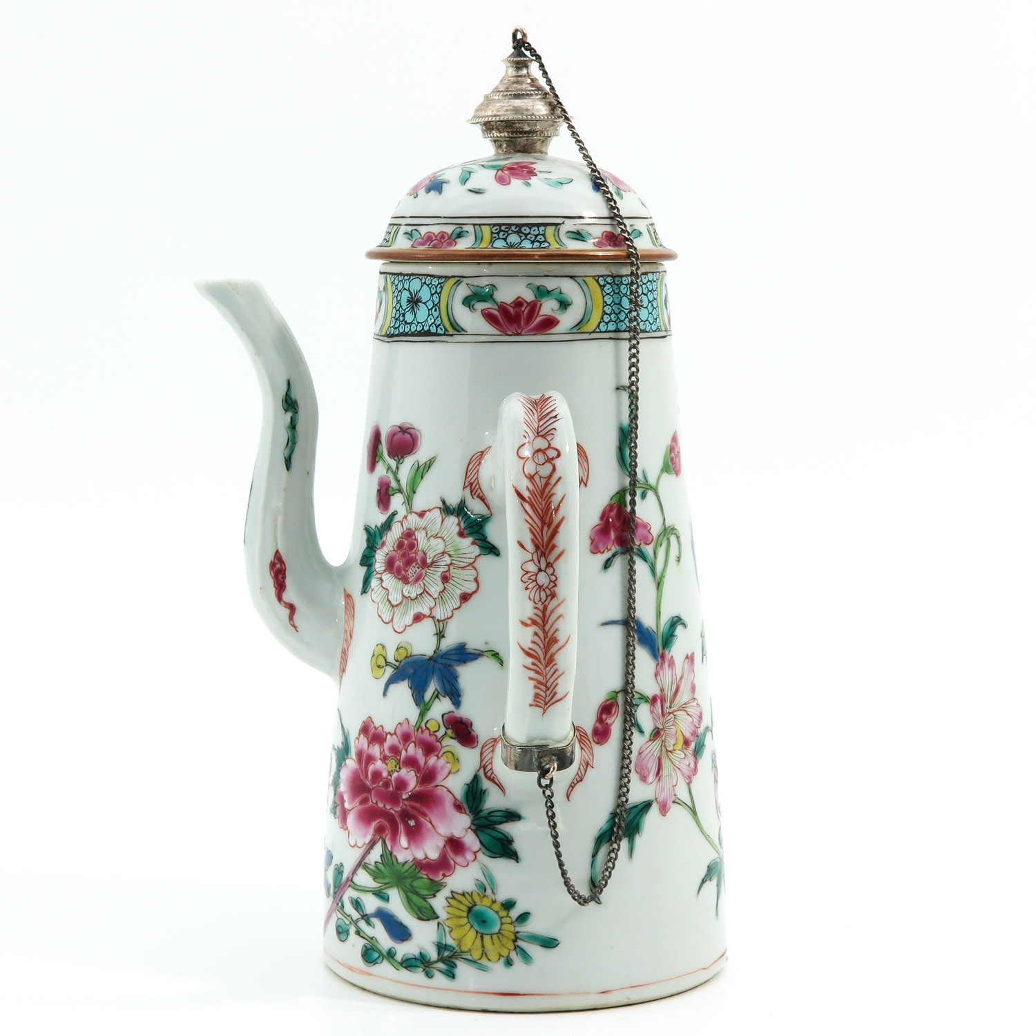 A Famille Rose Chocolate Pot - Image 2 of 10