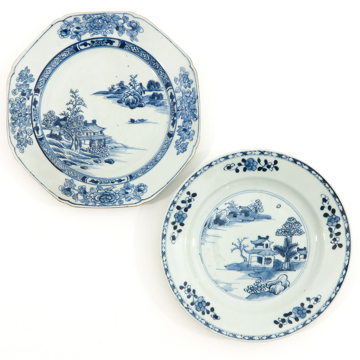 A Set of 6 Blue and White Plates - Image 5 of 10
