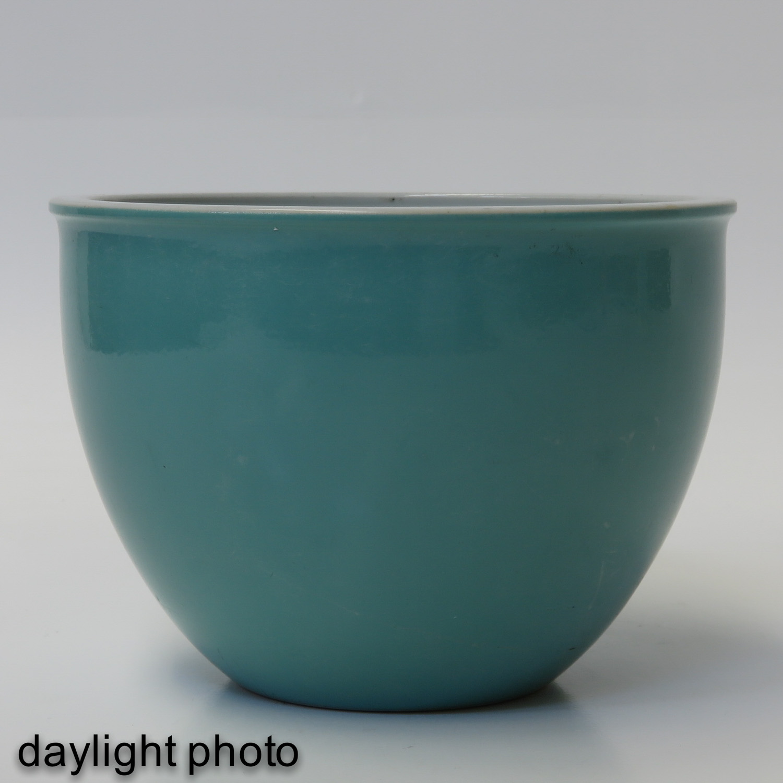 A Celadon Cache Pot - Image 7 of 9