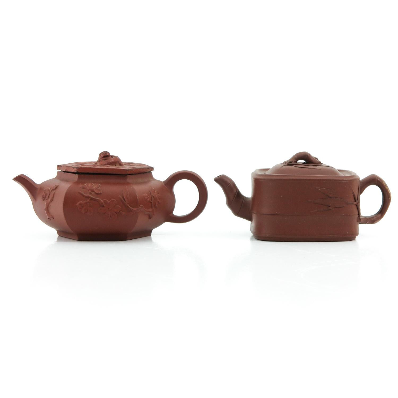 2 Yixing Teapots
