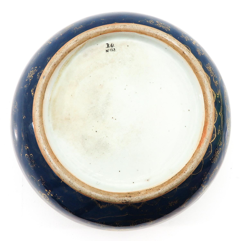 A Dark Blue and Gilt Bowl - Image 6 of 9