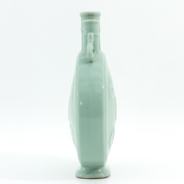 A Celadon Moon Bottle Vase - Image 4 of 10