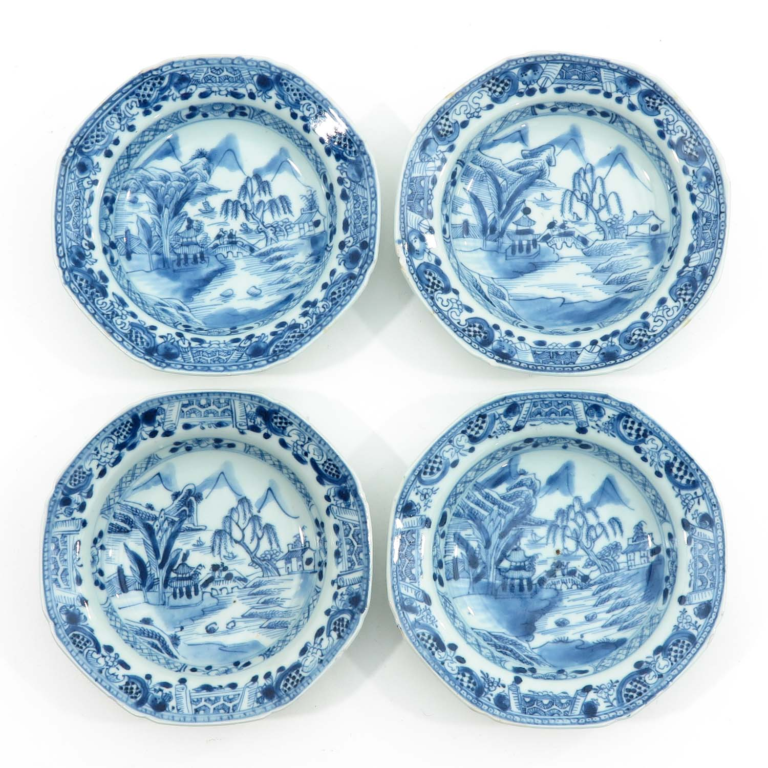 A Series of 8 Blue and White Plates - Image 5 of 9