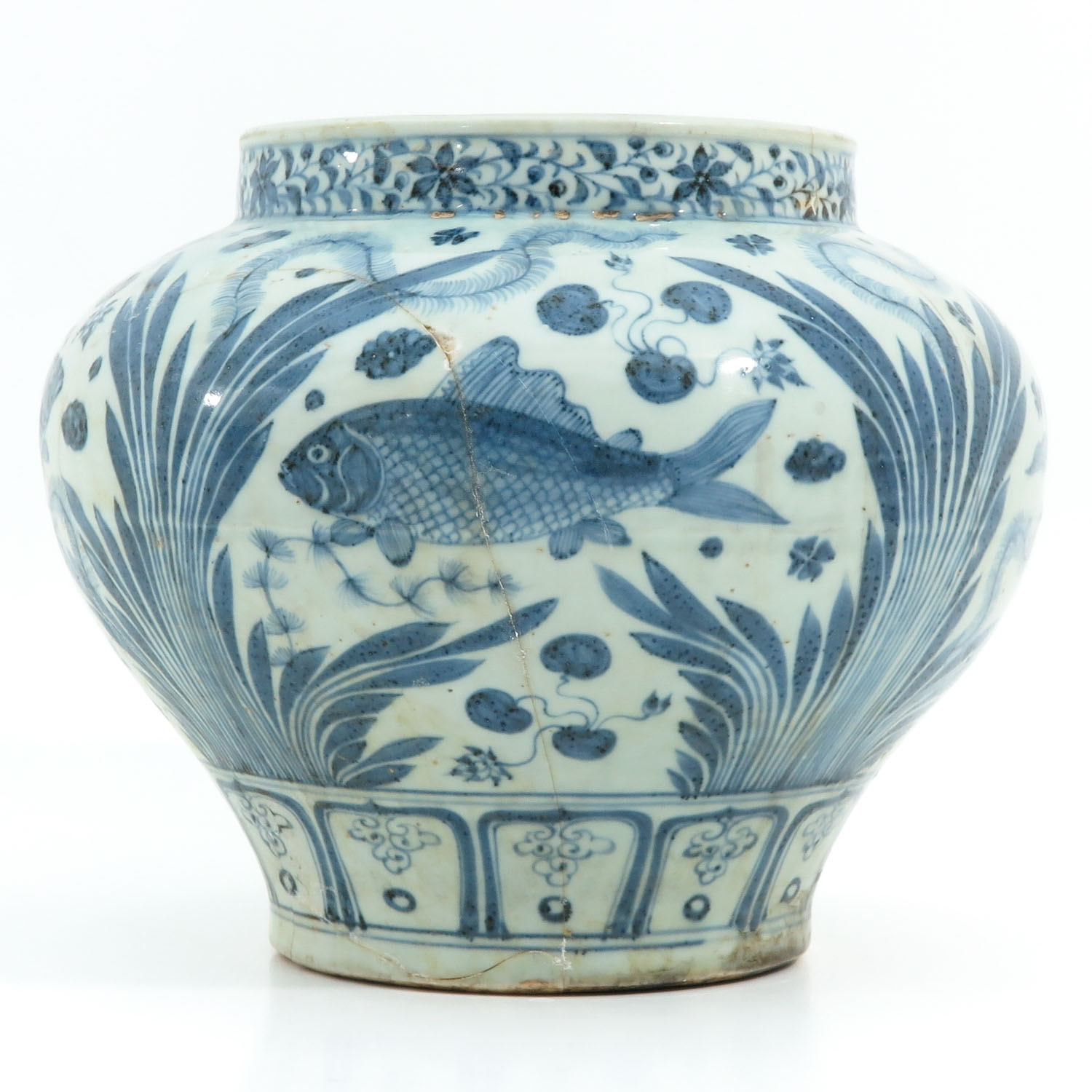 A Blue and White Jar - Image 3 of 9