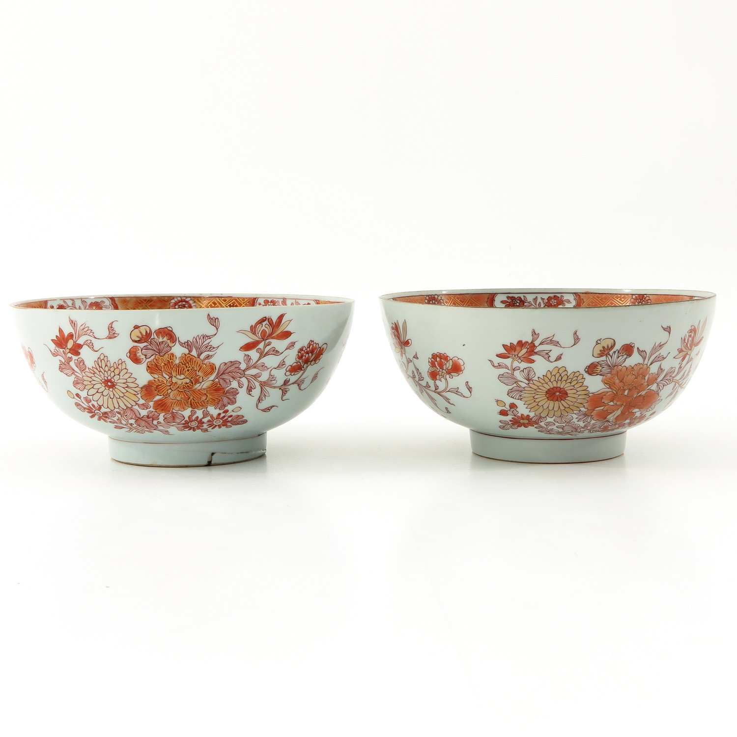 A Pair of Milk and Blood Decor Bowls