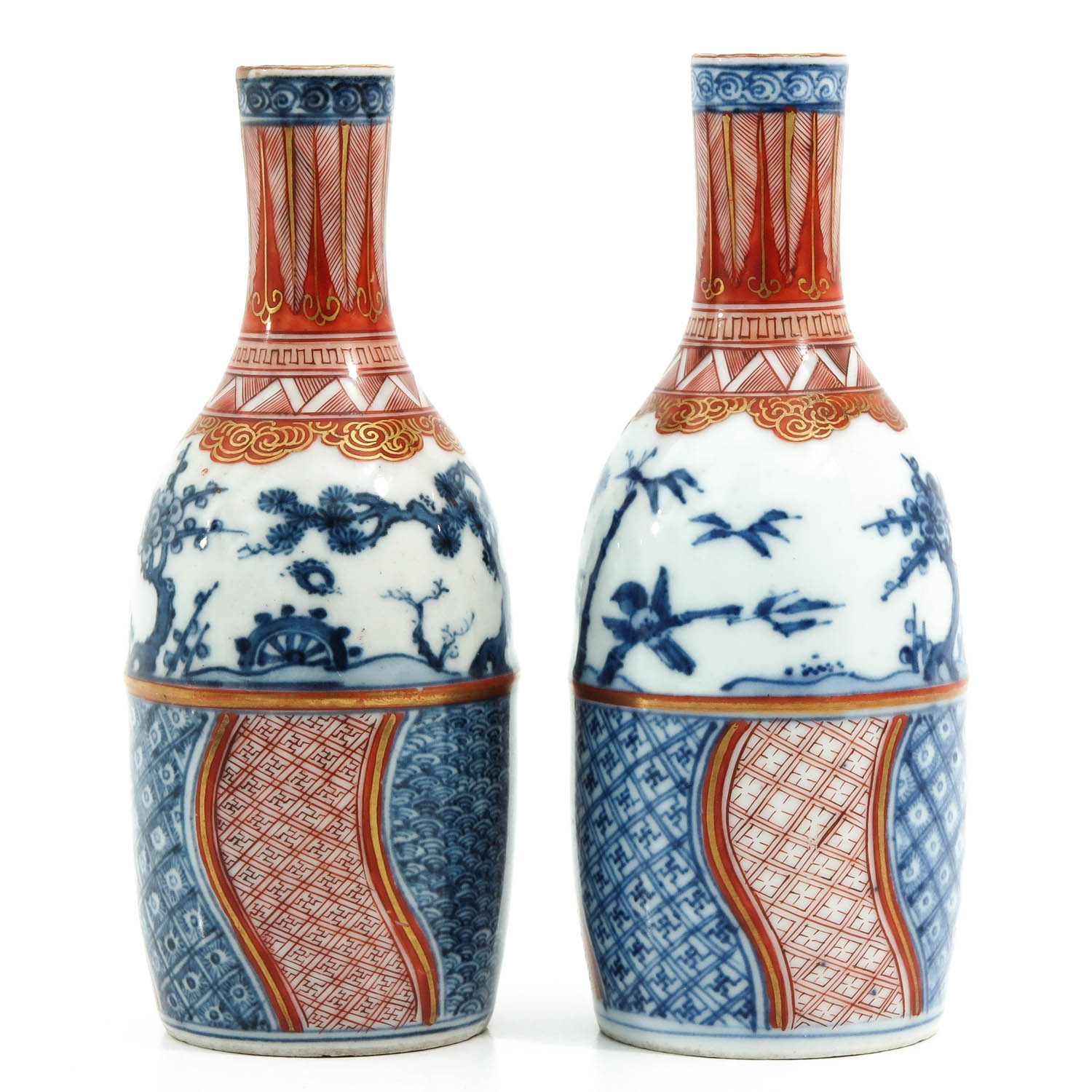 A Pair of Imari Bottles - Image 4 of 10