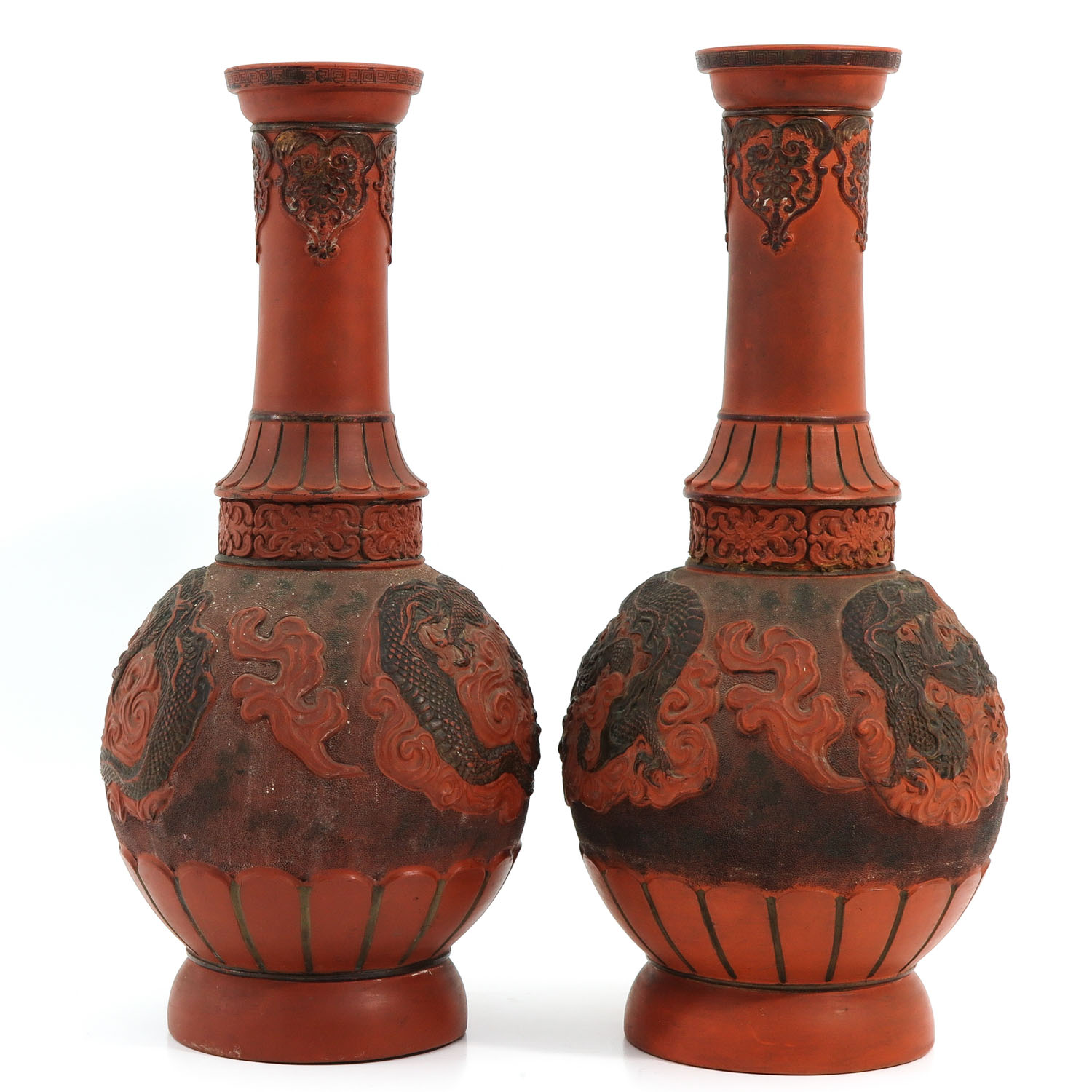 A Pair of Stoneware Vases - Image 2 of 10