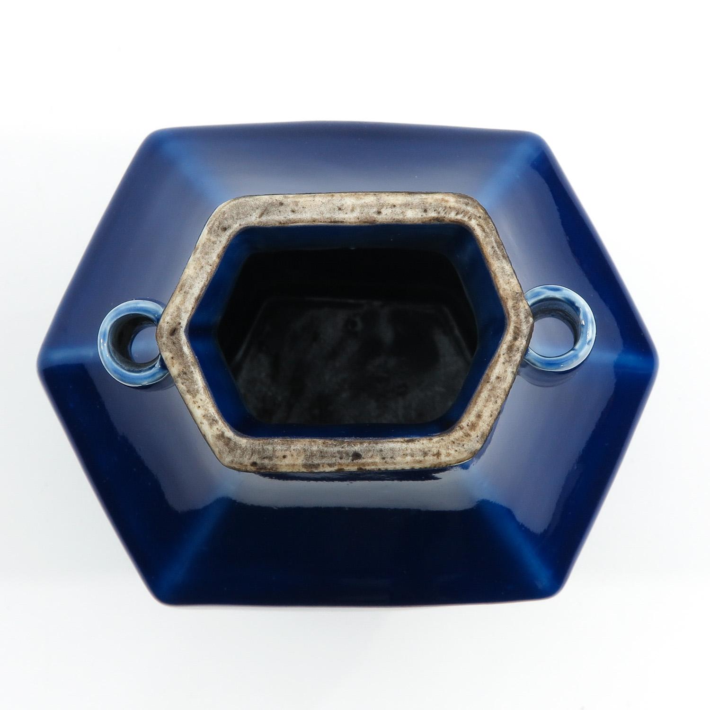 A Blue Glaze Hu Vase - Image 5 of 10