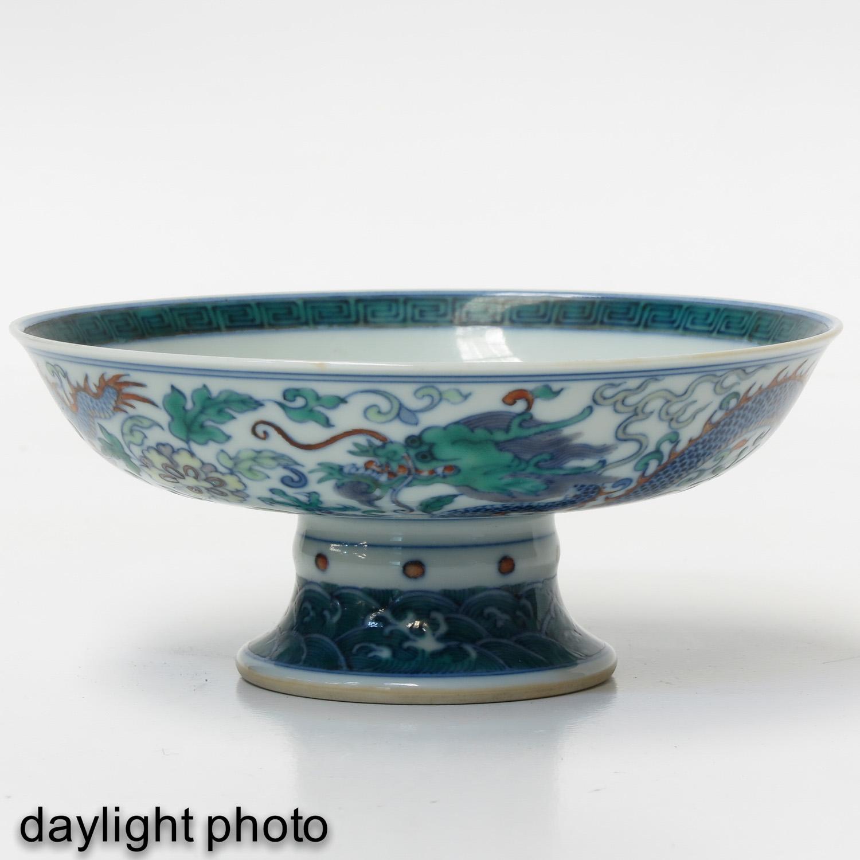 A Doucai Decor Stem Bowl - Image 7 of 10