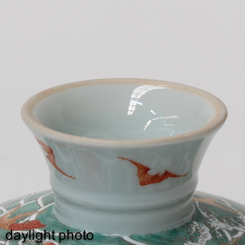 A Famille Rose Stem Bowl - Image 8 of 10