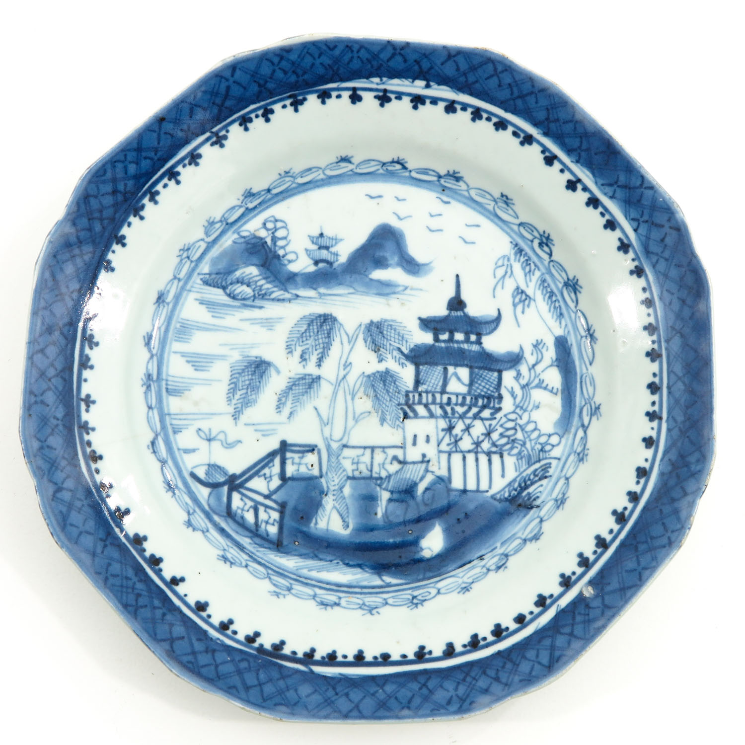 A Pair of Blue and White Plates - Image 3 of 9