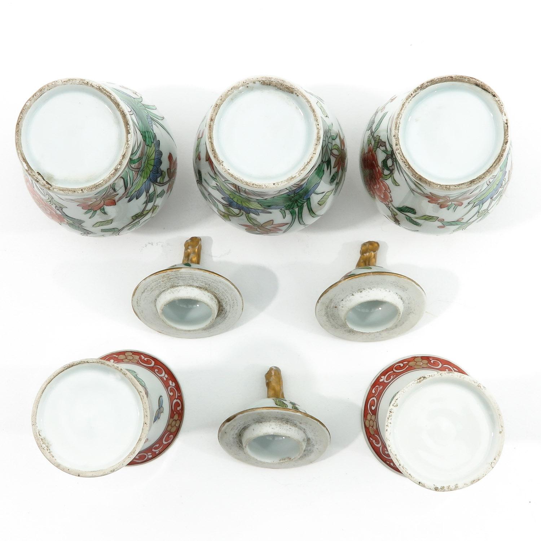 A Set of 5 Garniture Vases - Image 6 of 9