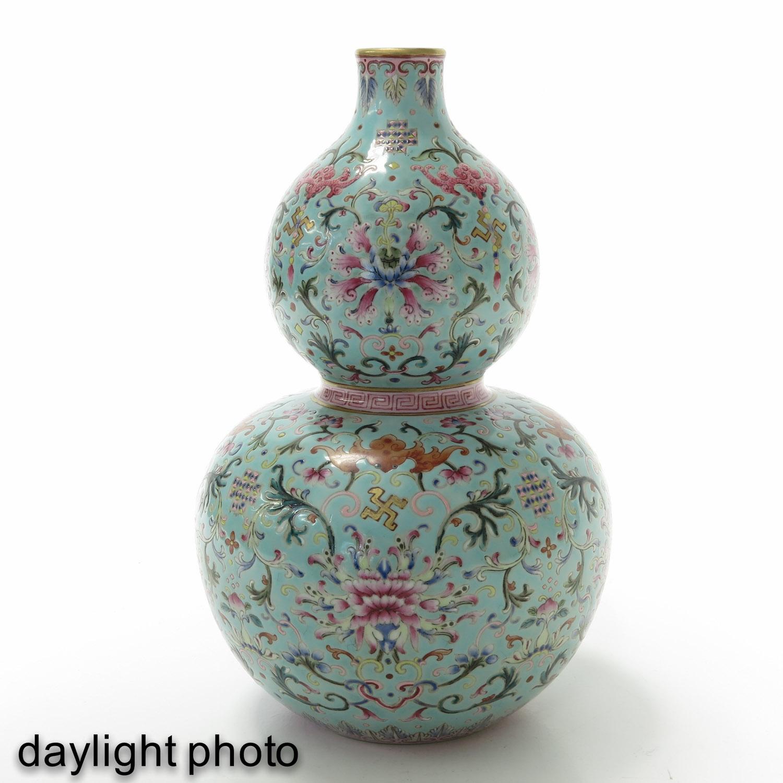 A Famille Rose Gourd Vase - Image 6 of 9