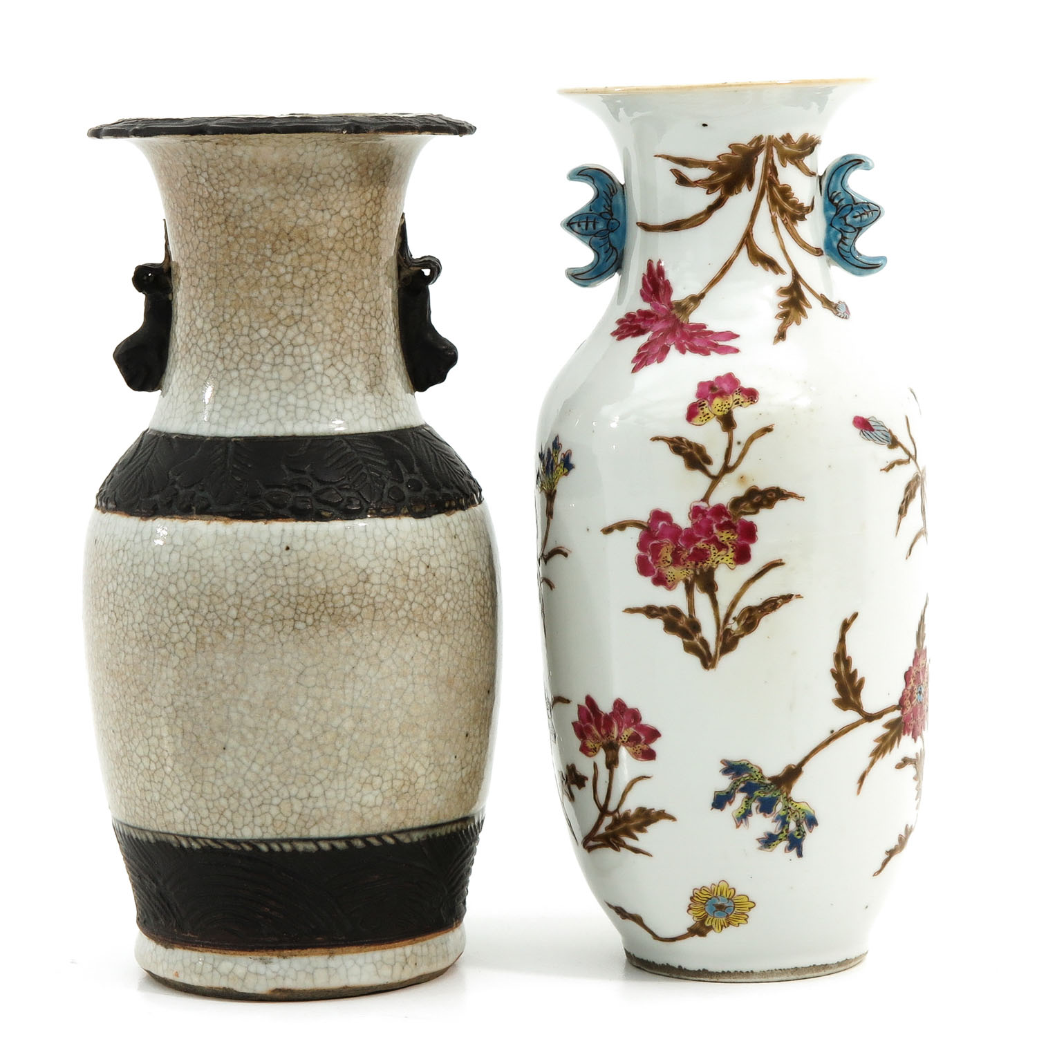 A Famille Rose and Nanking Vase - Image 3 of 9