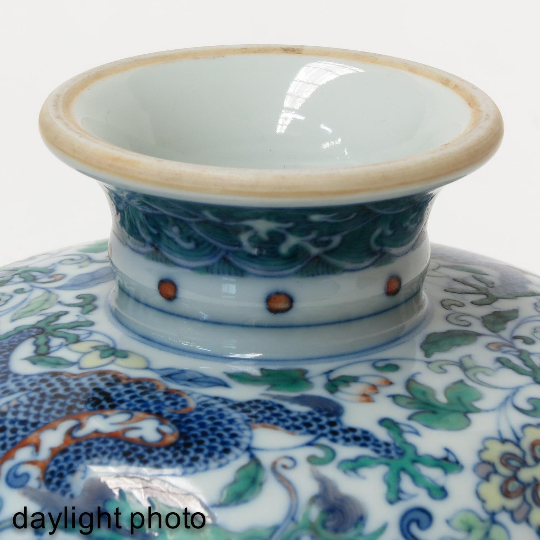 A Doucai Decor Stem Bowl - Image 8 of 10