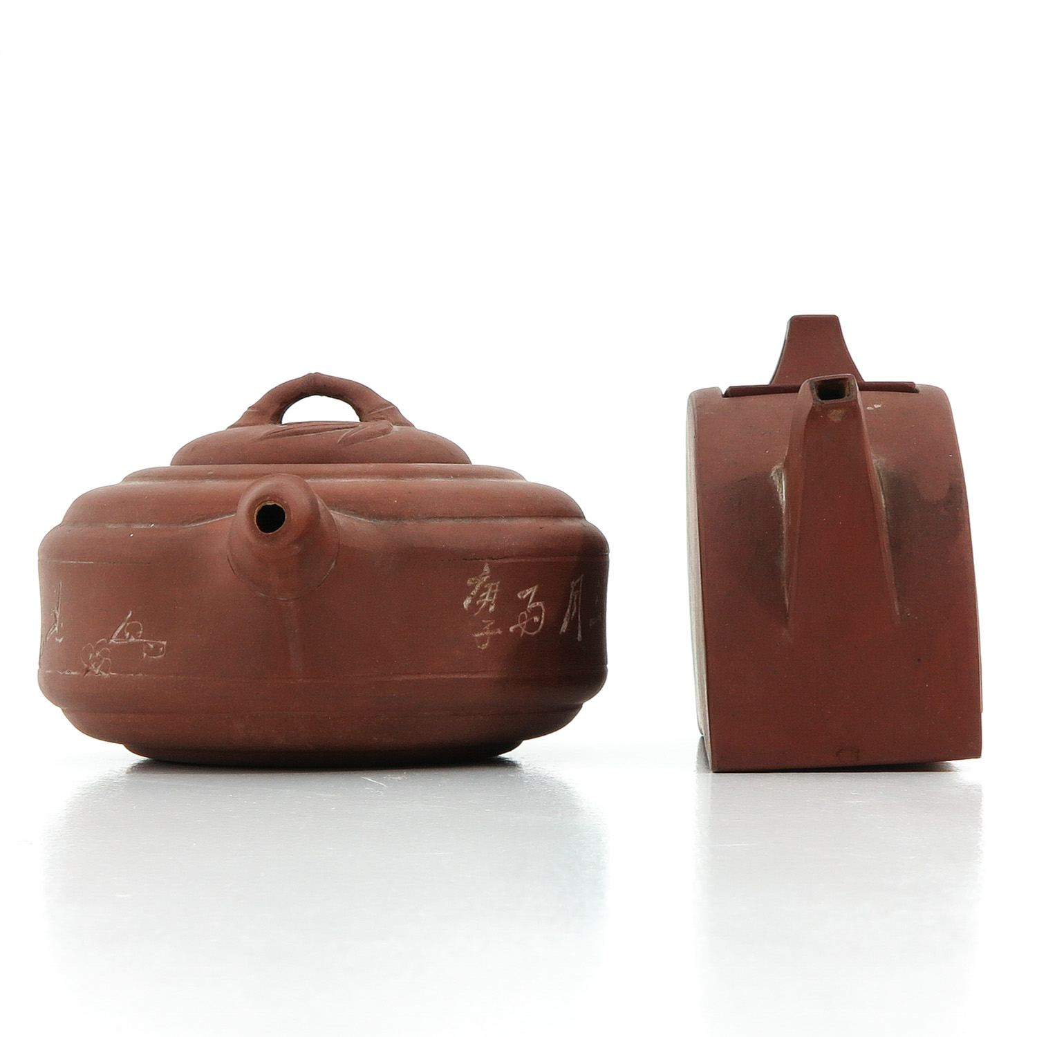 A Lot of 2 Yixing Teapots - Image 4 of 9