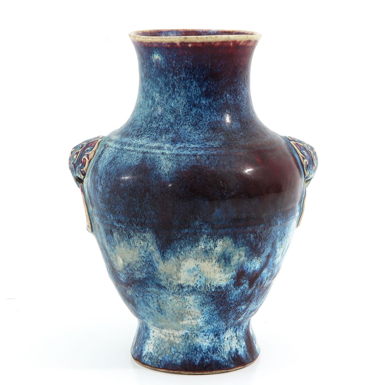 A Purple Glaze Vase