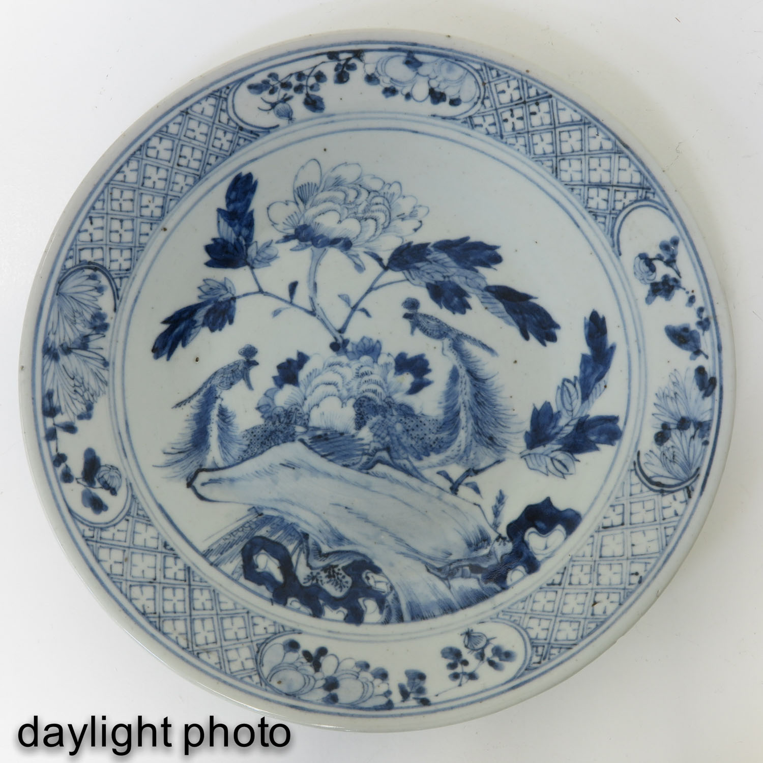 A Blue and White Dish - Image 3 of 5