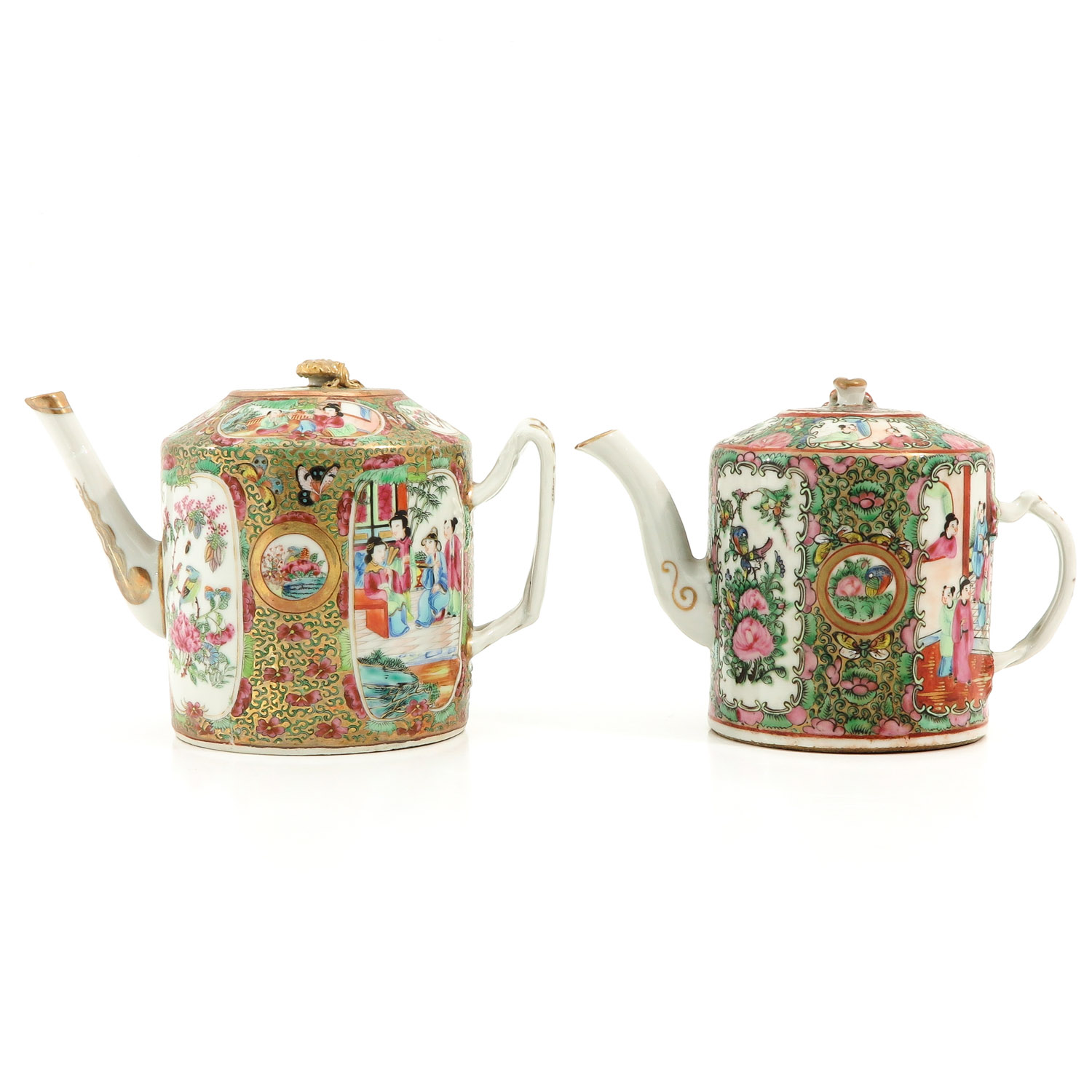 A Lot of 2 Cantonese Teapots