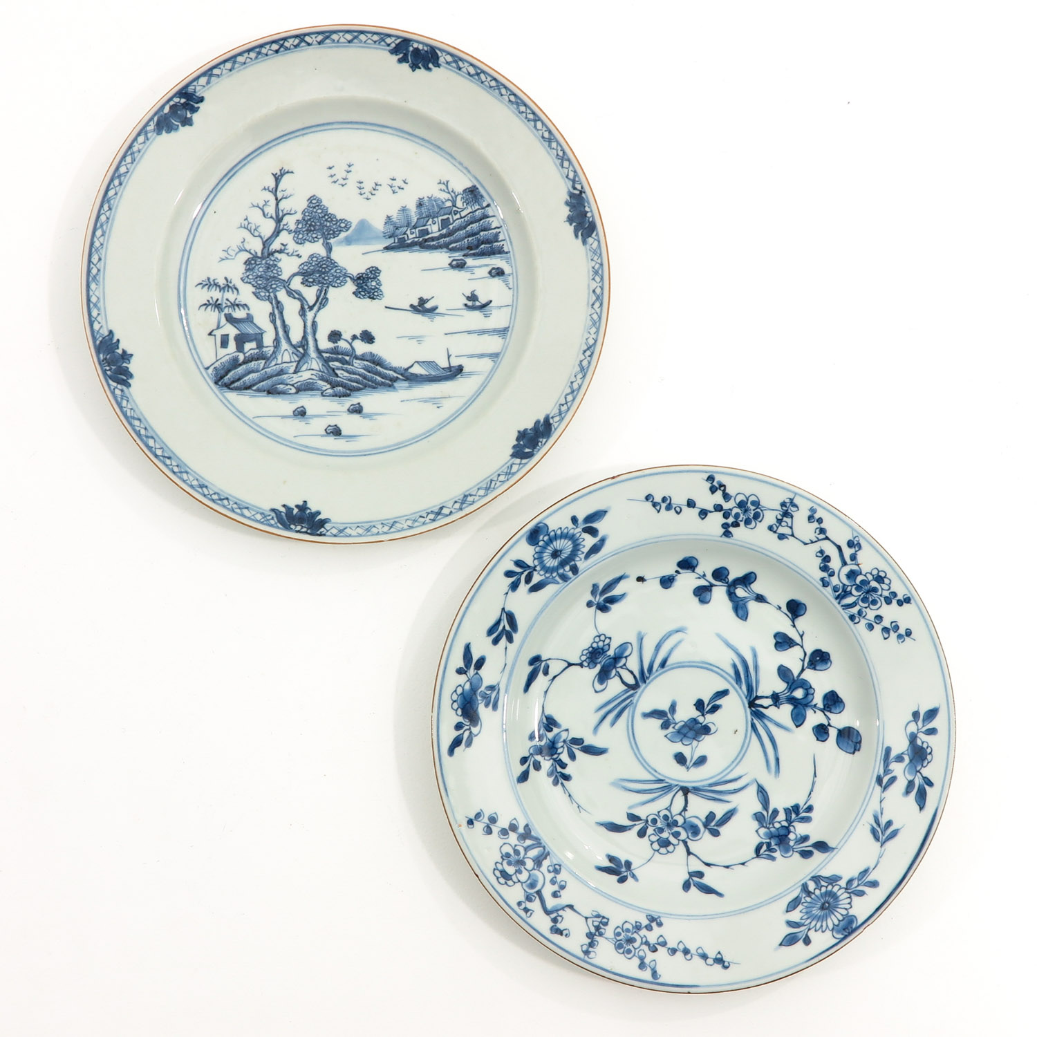 A Collection of 4 Blue and White Plates - Image 5 of 10