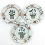 A Series of Famille Verte Plates