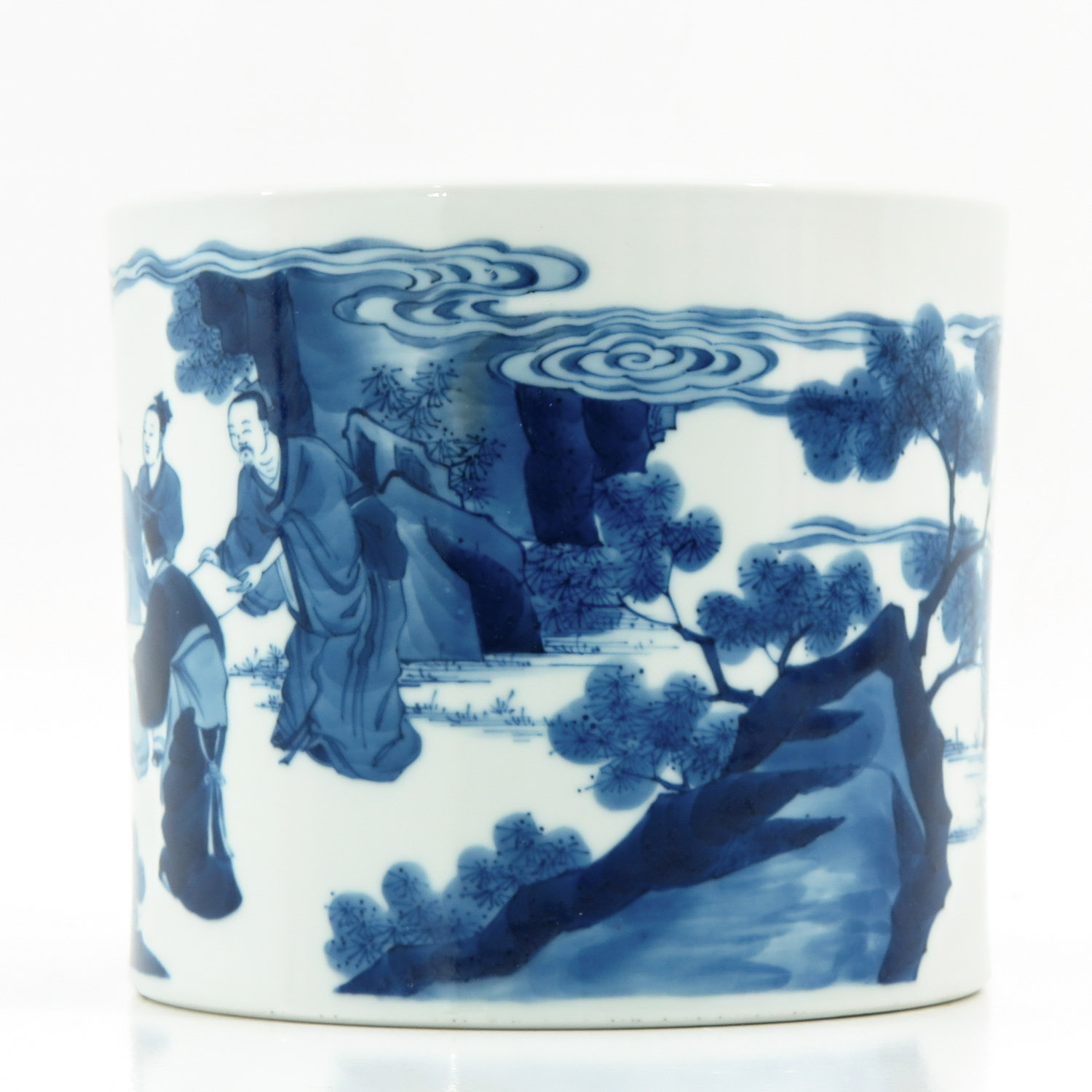 A Blue and White Brush Pot - Image 2 of 10