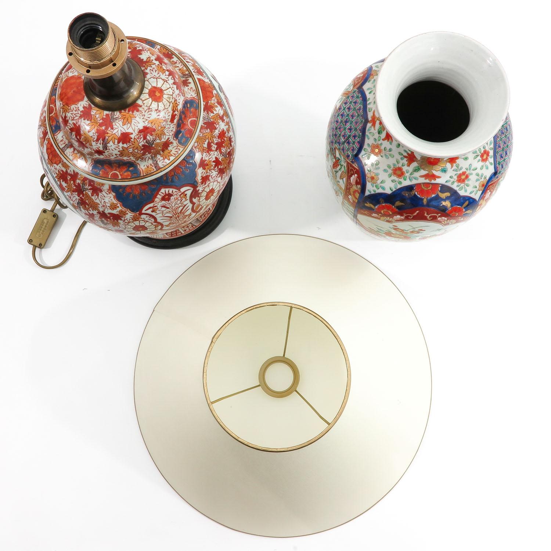 An Imari Vase and Lamp - Image 5 of 9