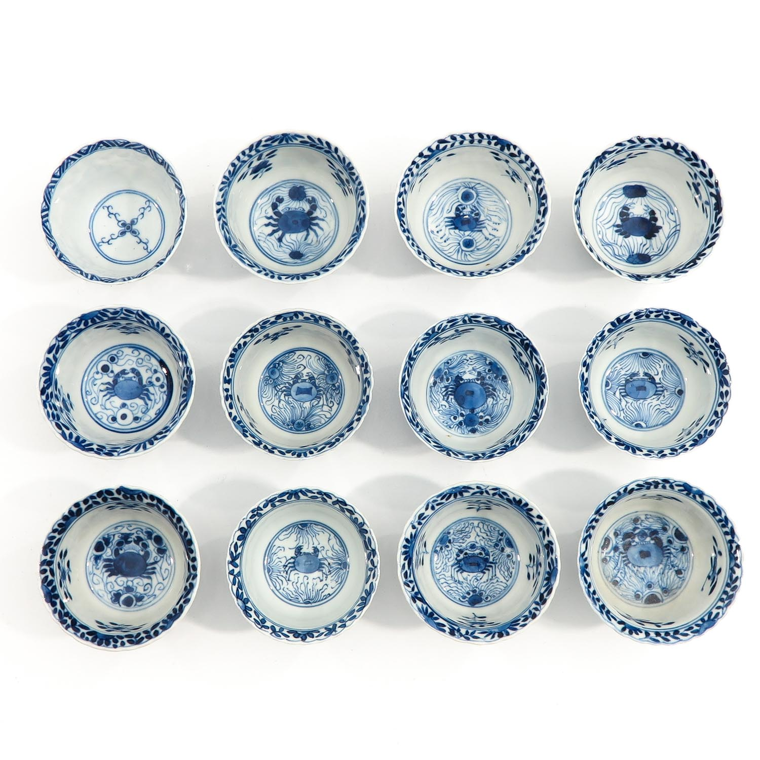 A Series of 12 Cups and Saucers - Image 5 of 10