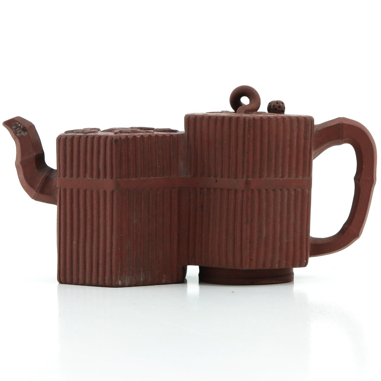 A Double Yixing Teapot
