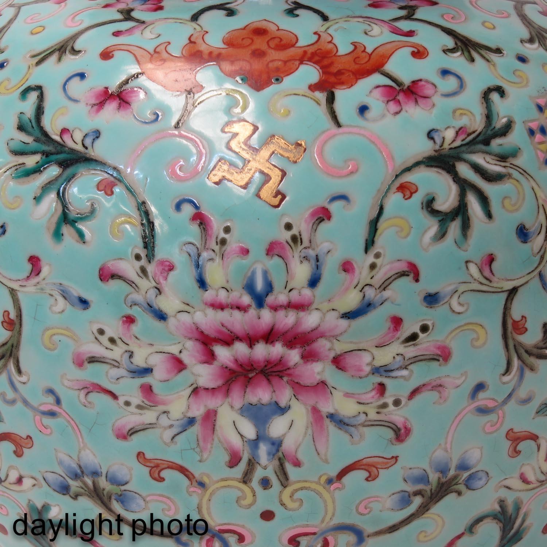 A Famille Rose Gourd Vase - Image 9 of 9